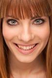 piękna brunetki śliczny szczęśliwy portret Obrazy Stock