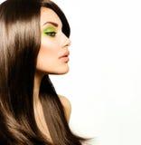 Piękna brunetki dziewczyna Zdjęcia Royalty Free