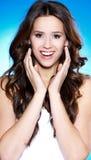 piękna brunetki portreta kobieta Zdjęcia Royalty Free