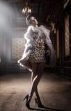 piękna brunetki target760_0_ Obraz Royalty Free