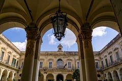 Piękna budynek architektura Bari w Włochy Obraz Stock