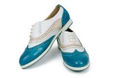 piękna butów tła niebieska odizolowana biała kobieta Zdjęcie Royalty Free