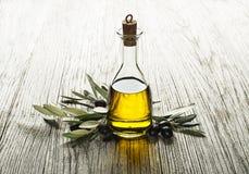 piękna butelka ubierać nafciane oliwne pikantność Obraz Stock