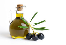piękna butelka ubierać nafciane oliwne pikantność Obrazy Stock
