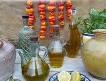 piękna butelka ubierać nafciane oliwne pikantność Zdjęcia Royalty Free