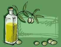 piękna butelka ubierać nafciane oliwne pikantność royalty ilustracja