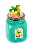 piękna ceramiczna składowa herbata Zdjęcia Stock