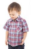 piękna chłopiec doświadcza małego portret Fotografia Royalty Free