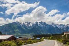 Piękna Chińska Zachodnia droga Zdjęcia Stock