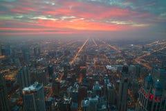 Piękna Chicagowska linia horyzontu zdjęcie stock