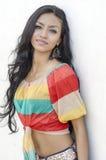 Piękna ciemna brunetki kobieta Zdjęcia Royalty Free