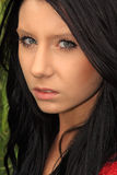 piękna ciemna z włosami kobieta Obraz Royalty Free