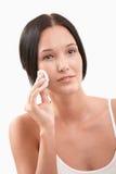 piękna cleaning twarzy kobieta Obraz Royalty Free