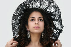 piękna czarna koronka fotografia stock