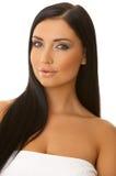 piękna, czarna z niebieskimi włosami Obraz Stock