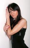piękna czerń sukni dziewczyna Zdjęcie Royalty Free