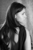 piękna czerń sukni kobieta zdjęcie royalty free
