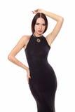 piękna czerni sukni kobieta fotografia stock