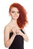 Piękna czerwona z włosami dziewczyna Zdjęcie Stock