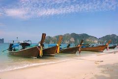 Piękna Długa plaża, Phi wyspa, Tajlandia Zdjęcie Royalty Free