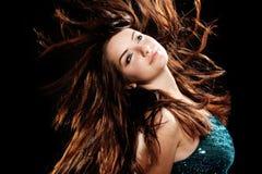 piękna dancingowa dziewczyna zdjęcie royalty free