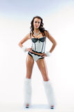 piękna dancingowej dziewczyn strój obraz royalty free