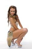 piękna dancingowej dziewczyn strój fotografia royalty free