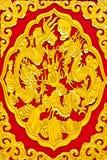 piękna dekoraci smoka rzeźby świątynia Obraz Royalty Free