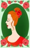 piękna dekorująca twarzy ramy s kobieta royalty ilustracja