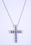 Piękna diamentu krzyża kolia Obrazy Royalty Free