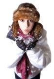 piękna dmuchania śnieg Zdjęcie Royalty Free