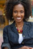 piękna dojrzała uśmiechnięta kobieta Obraz Royalty Free