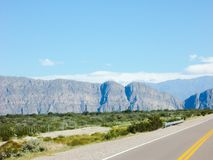 Piękna dolina góry Ruta 40 Mendoza Argentyna obraz royalty free