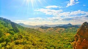 Piękna dolina w Crimea obraz royalty free