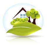 Piękna domu i ogródu ikona ilustracji