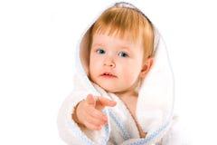 piękna dziecka prysznic ręcznik obraz stock