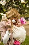 piękna dziecko córka jej macierzyści potomstwa obraz stock