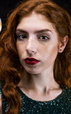 piękna dziewczyna czerwone włosy Fotografia Stock