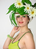 piękna dziewczyna kapelusz jej uśmiech Zdjęcie Royalty Free
