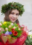Piękna dziewczyna kończąca studia Zdjęcia Stock