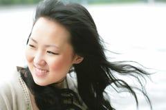 piękna dziewczyna orient wiatr obraz stock