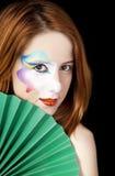 piękna dziewczyna robi rudzielec piękny Obrazy Royalty Free