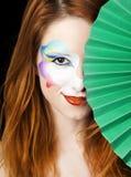 piękna dziewczyna robi rudzielec piękny Obraz Royalty Free