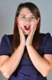 piękna dziewczyna rozpieczętowani usta jej potomstwa Zdjęcie Stock