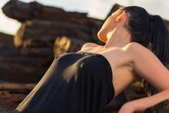 piękna dziewczyna seksowna brunetki Obraz Royalty Free