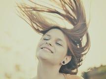 piękna dziewczyna twarzy Obraz Royalty Free