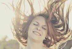 piękna dziewczyna twarzy Fotografia Royalty Free