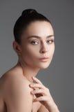 piękna dziewczyna twarzy idealna skóra zdjęcia royalty free