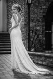 Piękna dziewczyna w ślubnej sukni Zdjęcie Royalty Free