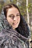 Piękna dziewczyna w chustka na głowę Fotografia Royalty Free